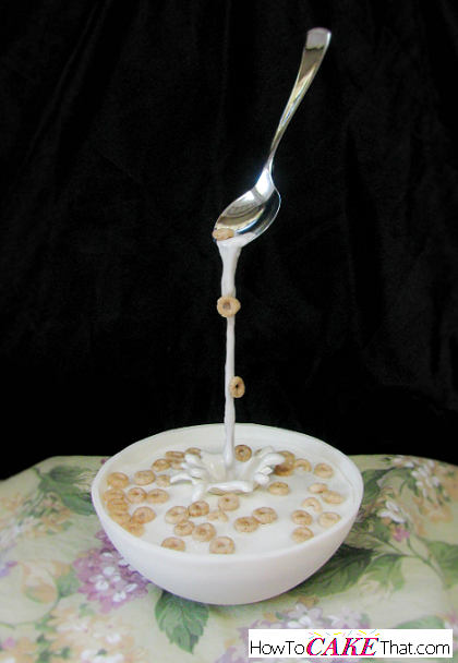 Gravity Defying Bowl Of Cereal Cake How To Cake That