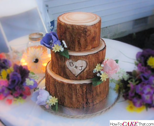 Tree Stump Cake - How To CAKE That