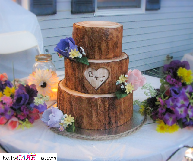 wedding cake that looks like tree bark tree stump cake how to cake that 26249