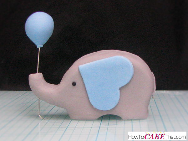 Gray Baby Elephant Cake Topper