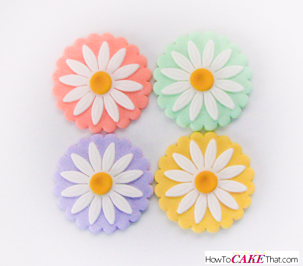 Pastel Daisy Fondant Cupcake Topper How To Cake That