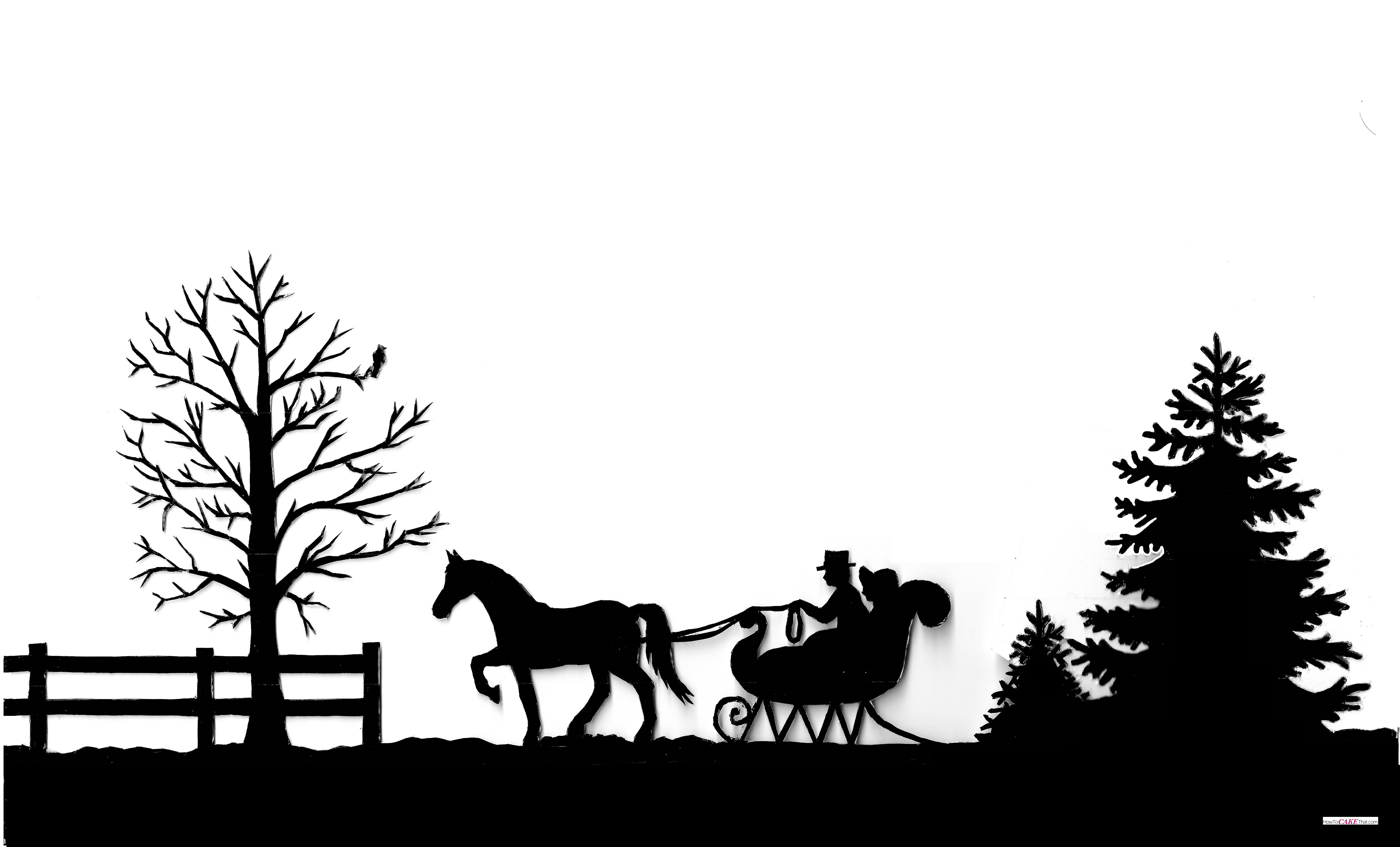 Silhouette Horse And Sleigh Cake How To Cake That